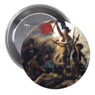 Liberty Leading the People Button