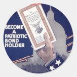 Liberty Loan Classic Round Sticker