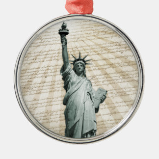 Liberty Loves The Constitution Metal Ornament