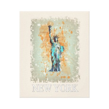 USA Themed Liberty, New York, Manhattan, the USA, America Canvas Print