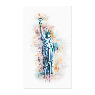 Liberty, New York, Manhattan, the USA, America Canvas Print