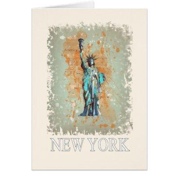 USA Themed Liberty, New York, Manhattan, the USA, America Card