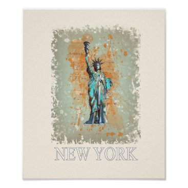 USA Themed Liberty, New York, Manhattan, the USA, America Poster