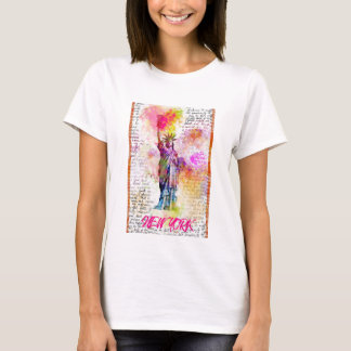 Liberty New York. Rainbow Color illustration T-Shirt
