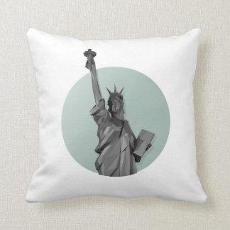 Liberty . New york Throw Pillow