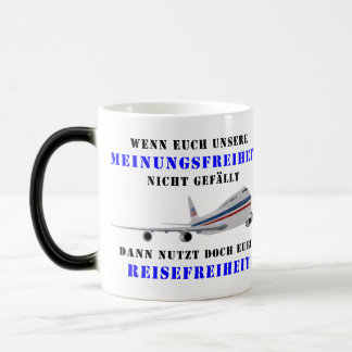 Liberty of opinion and democracy magic mug