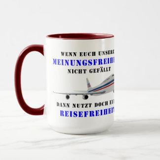 Liberty of opinion and democracy mug