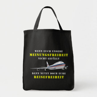 Liberty of opinion and democracy tote bag