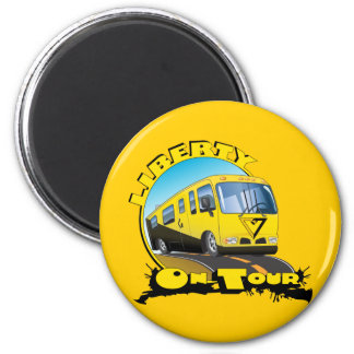 Liberty On Tour 2 Inch Round Magnet