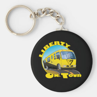 Liberty On Tour Basic Round Button Keychain