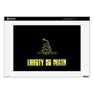 liberty or death black Gadsden  Skin Laptop Skin