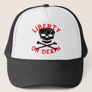 Liberty Or Death Grunge Skull Trucker Hat