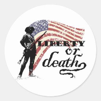 Liberty or Death Minutemen Stickers