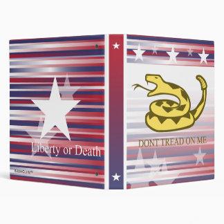 Liberty or Death patriotic binder