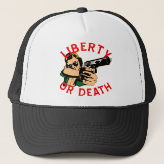 Liberty Or Death Shooter Trucker Hat
