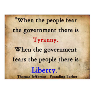 Liberty Over Tyranny Postcard