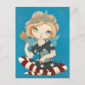 Liberty - patriotic fairy red white and blue postcard