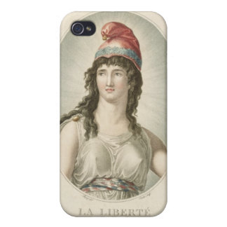 Liberty, Patron of the French, engraved by Ruotte iPhone 4/4S Case