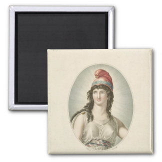Liberty, Patron of the French, engraved by Ruotte Magnet
