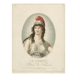 Liberty, Patron of the French, engraved by Ruotte Postcard