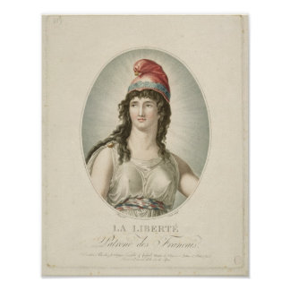 Liberty, Patron of the French, engraved by Ruotte Poster