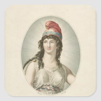 Liberty, Patron of the French, engraved by Ruotte Square Sticker