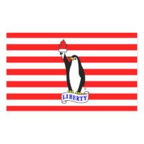 Liberty Penguin Flag Rectangular Sticker