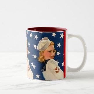 Liberty Pinup Girl Coffee Mugs