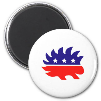 Liberty porcupine 2 inch round magnet