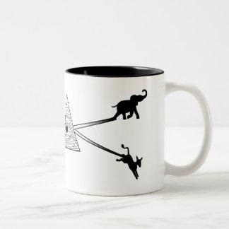 Liberty Prism(black) Two-Tone Coffee Mug