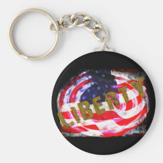 LIBERTY Products Basic Round Button Keychain