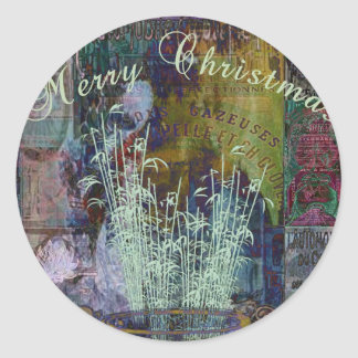 Liberty Reflection Christmas Stickers