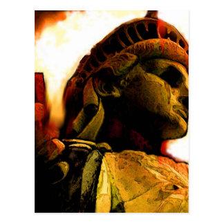 liberty rusted postcard