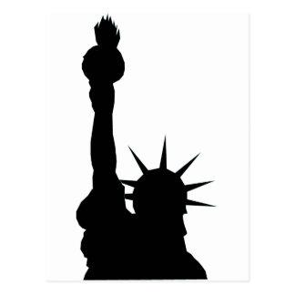 Liberty shadow postcard