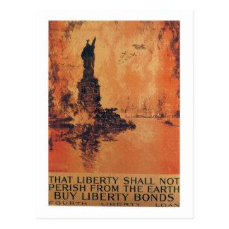Liberty Shall Not Perish World War 2 Postcards