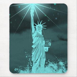 Liberty Shines Thru the Night Mousepad