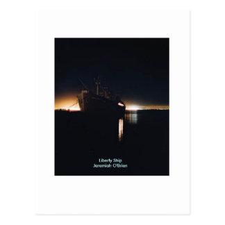 Liberty Ship  SSJeremiah O'Brien - Customized Postcards