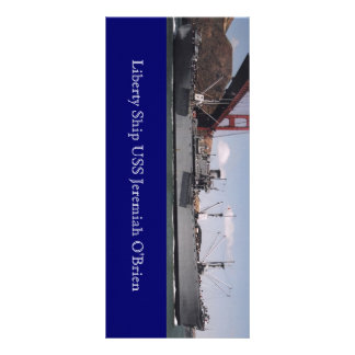 Liberty Ship USS Jeremiah O'Brien Postcard Custom Rack Cards