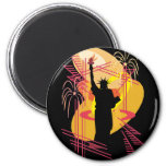 Liberty Silhouette Magnets