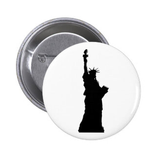 Liberty Silhouette Pinback Buttons