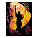 Liberty Silhouette Post Card