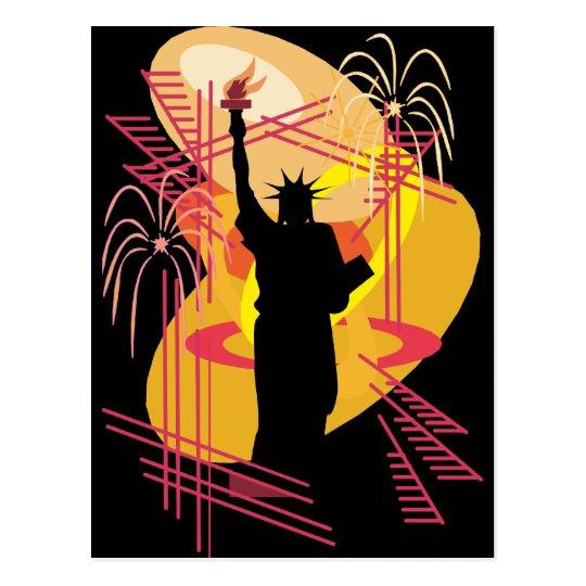 Liberty Silhouette Postcard