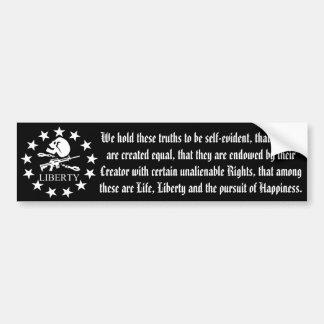 Liberty Skull and Cross Bones Bumper Stickers