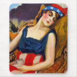 Liberty Sleeps America USA Vintage Retro Kitsch Mouse Pad