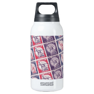 Liberty Stamps Collage Insulated Water Bottle