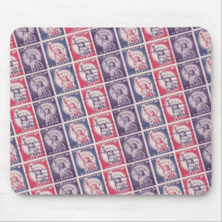 Liberty Stamps Collage Mouse Pad