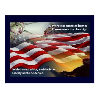 Liberty Star-Spangled Banner Postcard