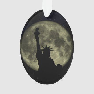 Liberty statue at night ornament