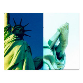 liberty statue book post card