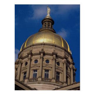 Liberty statue, Gold Gilded Dome, Atlanta, Georgia Postcard